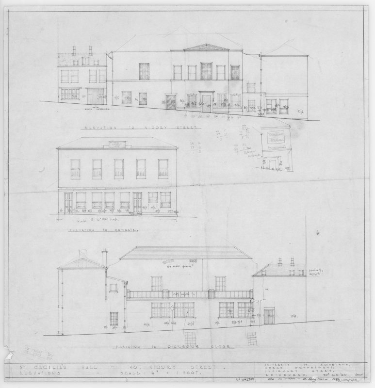 Elevations including details of dimensions.