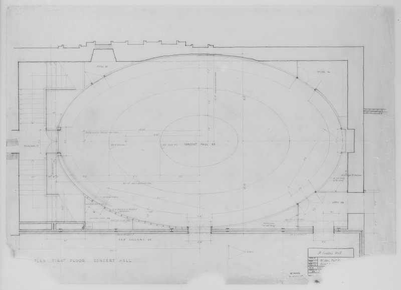 Plan, First Floor and Concert Hall.