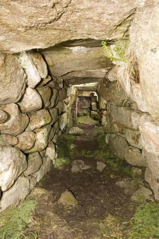 Village Bay, House of the Fairies. Interior of the souterrain from the entrance.