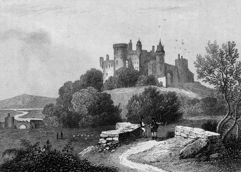 General view.  Titled: 'Chateau de Craignethan'