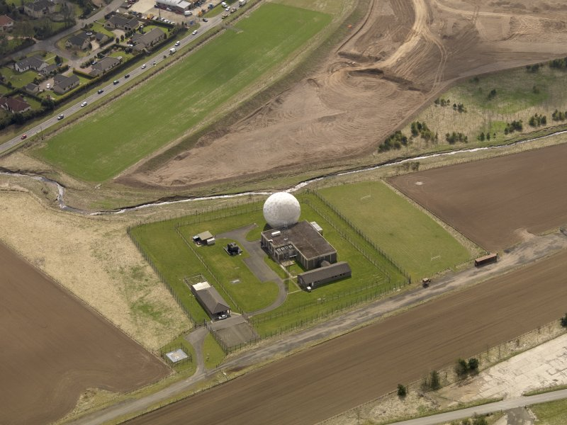 Oblique aerial view centred on the SATCOM III installation, taken from the NE.