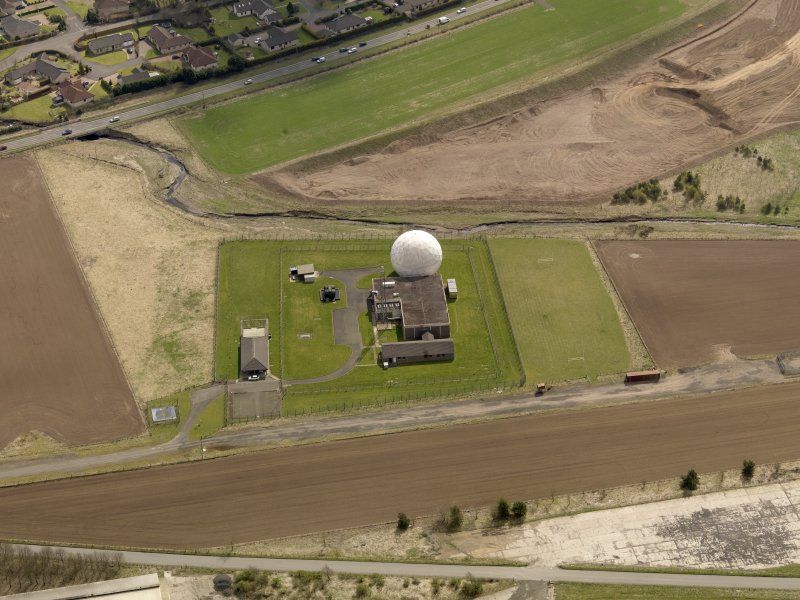 Oblique aerial view centred on the SATCOM III installation, taken from the N.