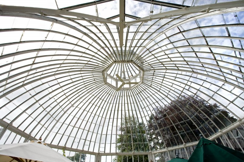Interior. Conservatory. Domed roof. Detail