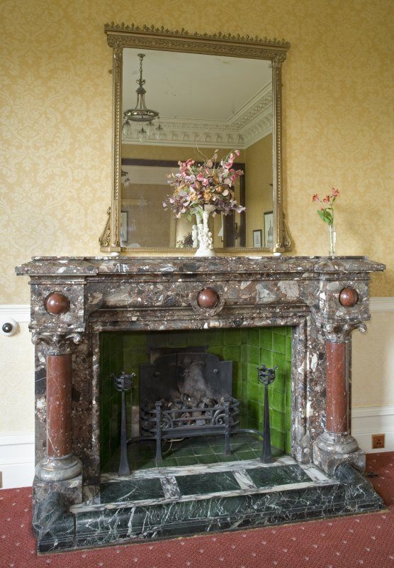 Interior. Ground floor. Dining room. Fireplace. Detail