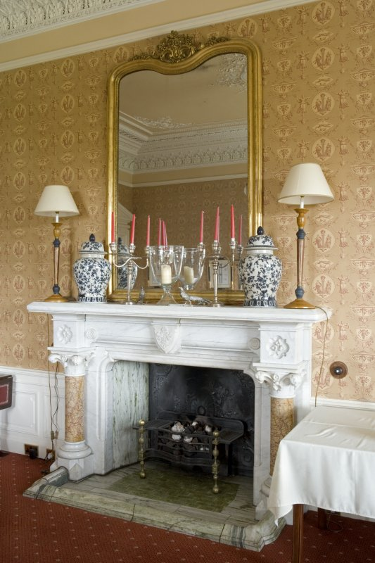 Interior. Ground floor. Drawing room. Fireplace. Detail