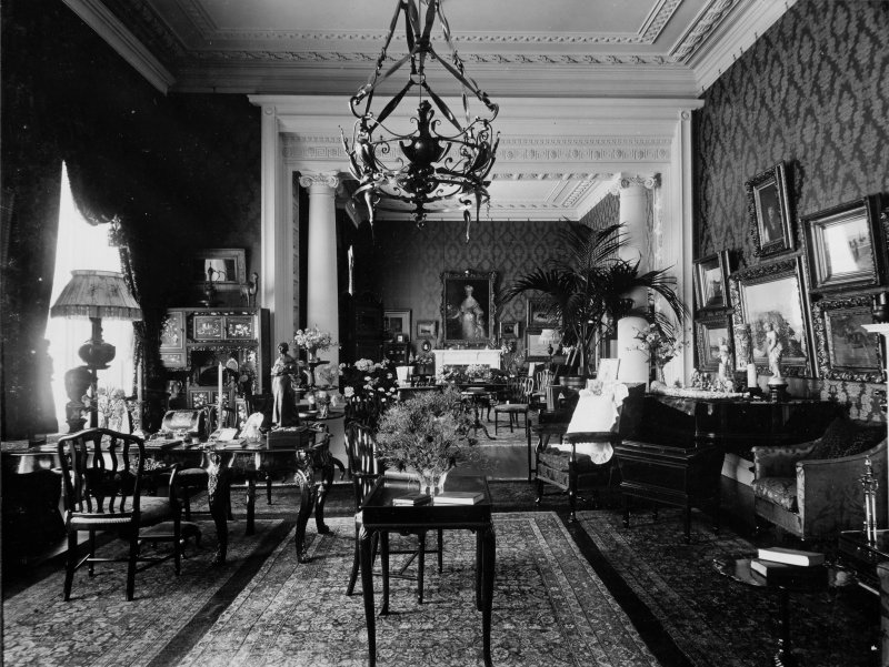 Page 31 View of double drawing room showing furnishings. PHOTOGRAPH ALBUM NO 227: THE MONTGREENAN ALBUM, KILWINNING