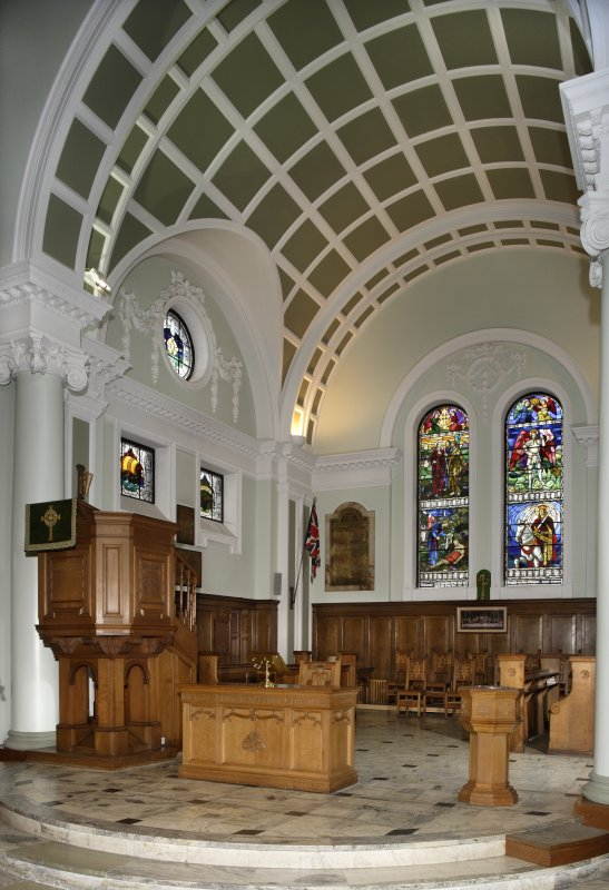 Interior. Oblique view of Chancel.