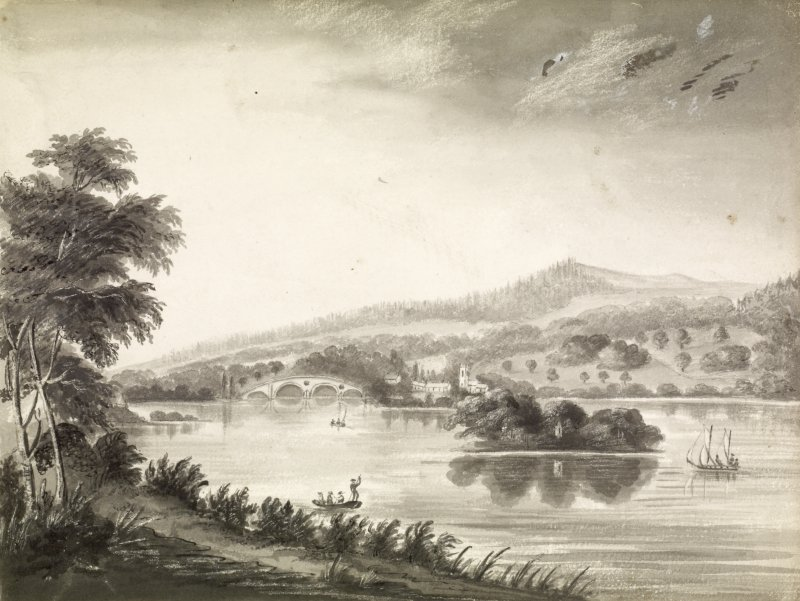 Drawing of Taymouth Castle and Kenmore.