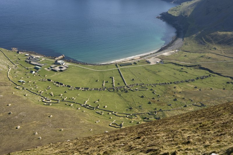 Hirta, Village Bay. General view from N, including the Ministry of Defence Establishment.