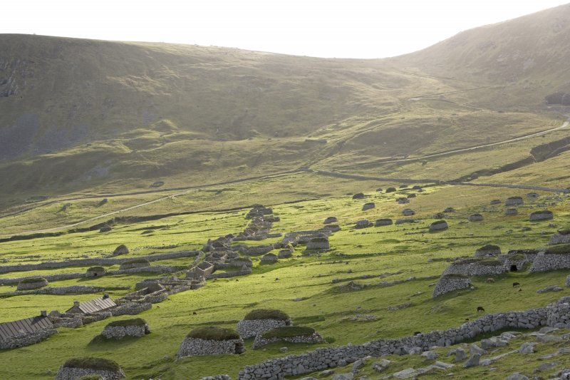 Hirta, Village Bay. General view from E above the head dyke.