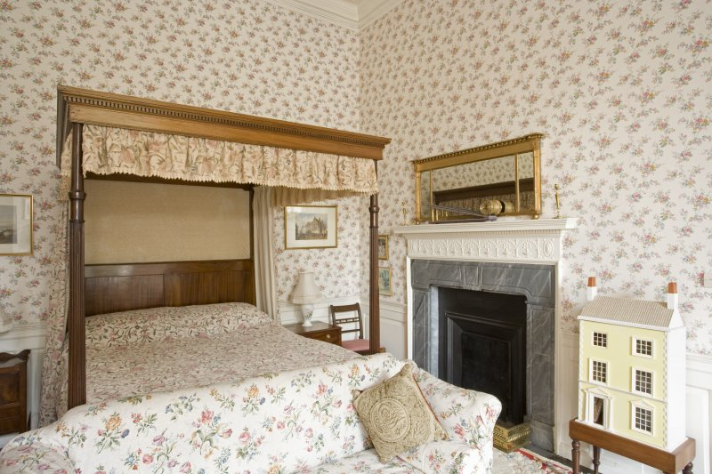 Interior. Tower. First  floor. West Chintz bedroom. Cupboard and strong room door