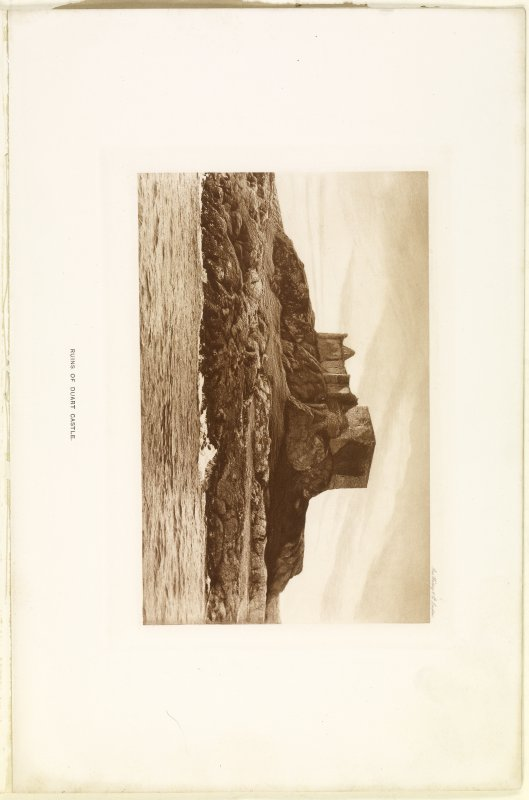 Page 24 (opposite) View of Duart Castle, no. 1480 Sales Brochure. Inscribed: ''Ruins of Duart Castle.''