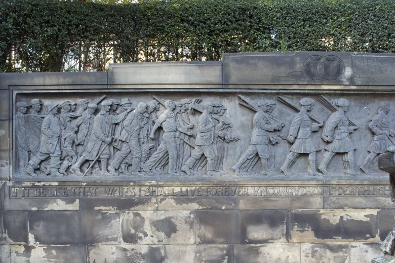Scottish American Memorial. Frieze. West section.