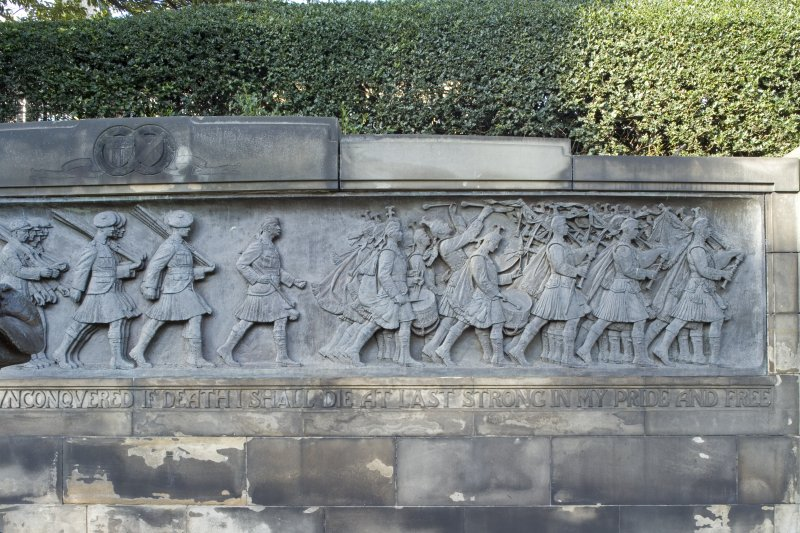 Scottish American Memorial. Frieze. East section.