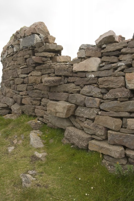 Detail of drystone wall close to the lighthouse.