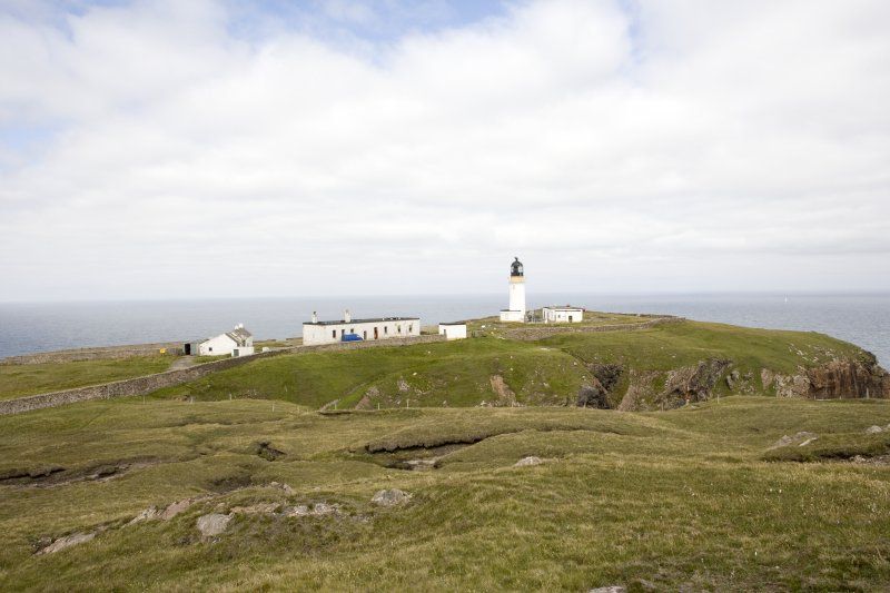 View of the Cape Wrath lighthouse (NC27SE 3.00) from the south-east.