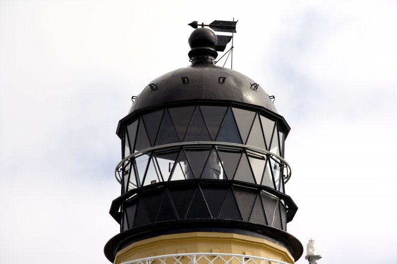 Detail of top of tower, Cape Wrath Lighthouse.