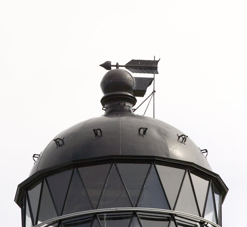 Detail of the top of the lighthouse tower.