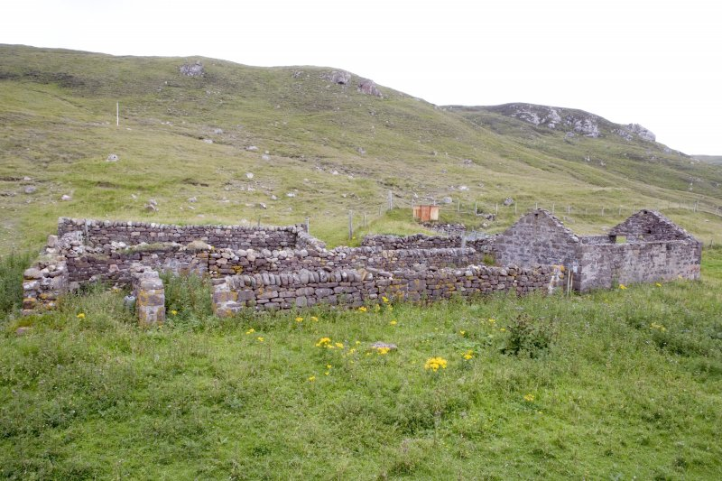 Kearvaig, farmhouse and range, view from NE.