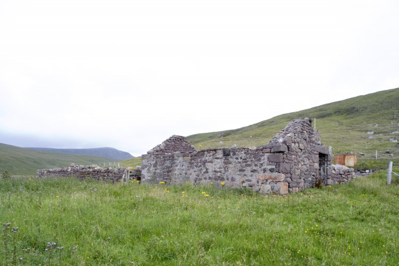 Kearvaig, farmhouse and range, view from NW.