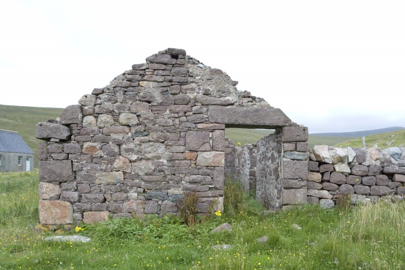 Kearvaig, farmhouse and range, view of W gable from W.
