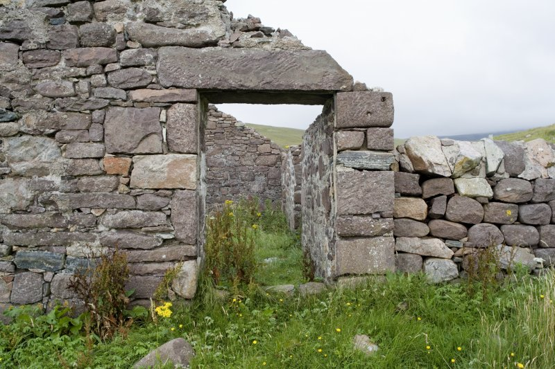 Kearvaig, farmhouse and range, detail of doorway in W gable.