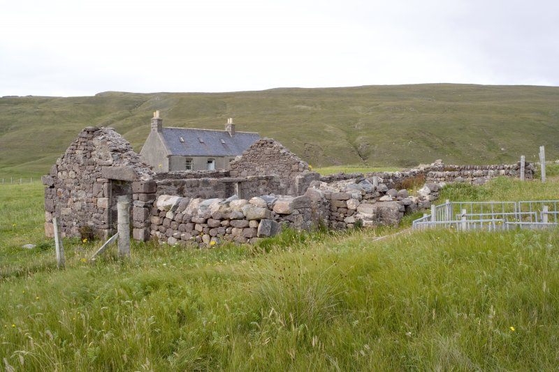 Kearvaig, farmhouse and range, view from SW.