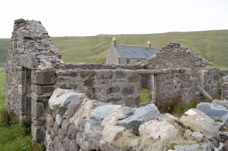 Kearvaig, farmhouse and range, view from N of W end of range.