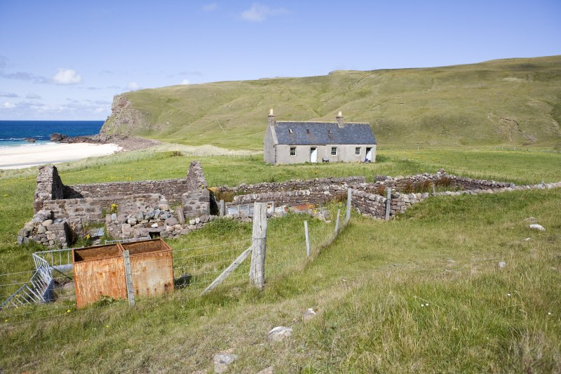 Kearvaig, farmstead and shepherd's house, general view from SSW.