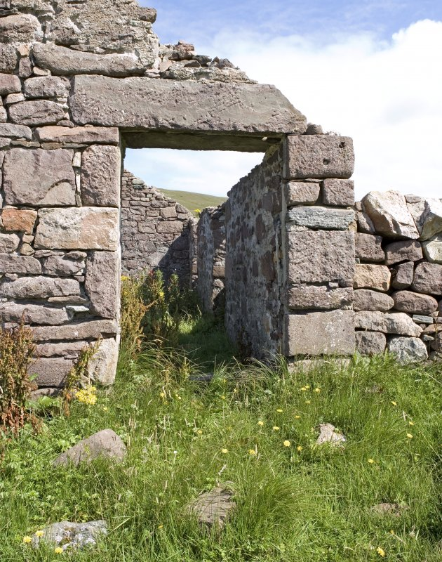 Kearvaig, farmhouse and range, detail of doorway in W end.