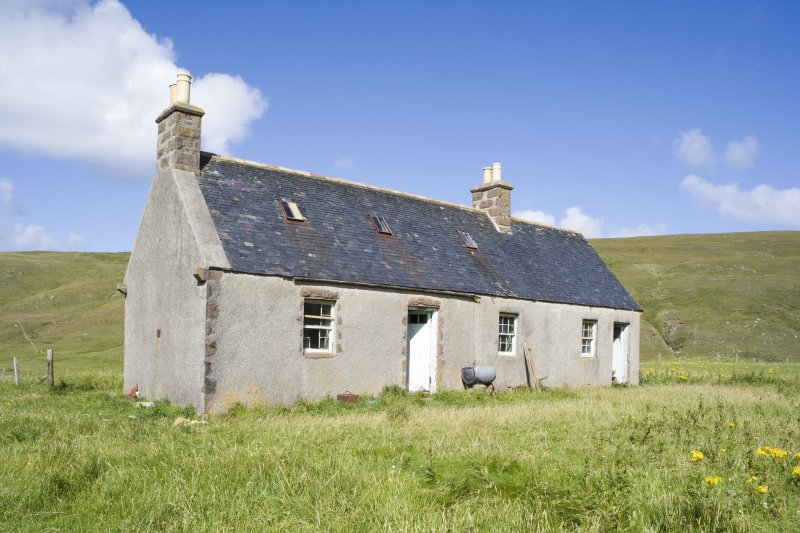 Kearvaig, shepherd's house, view from SW.