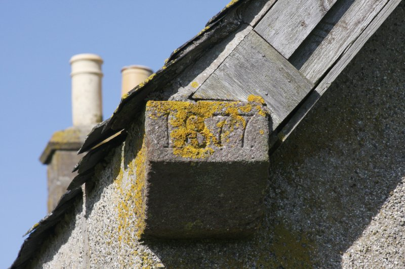 Kearvaig, shepherd's house, detail of skewputt at SE corner.