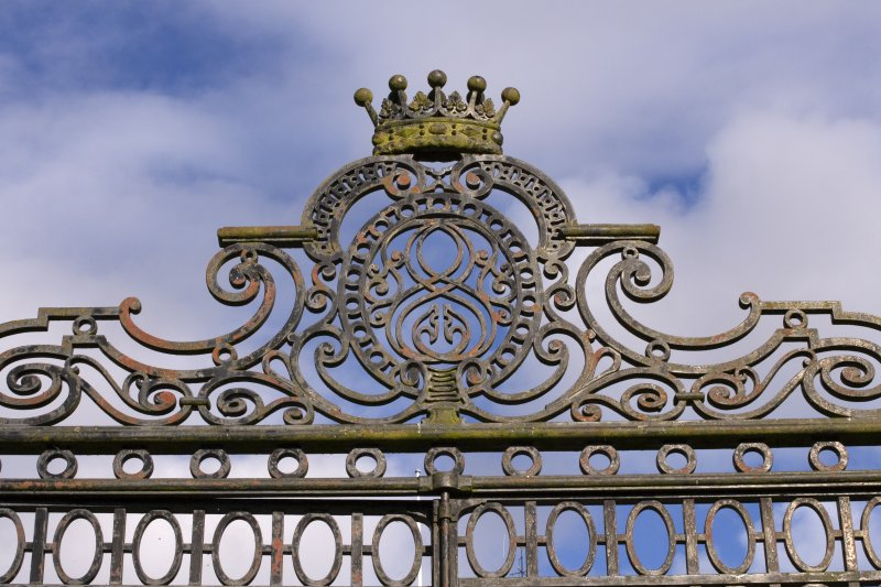 Detail of ironwork on gate