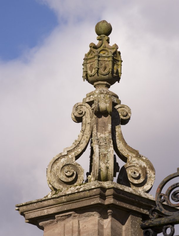 Detail of gate pier finial