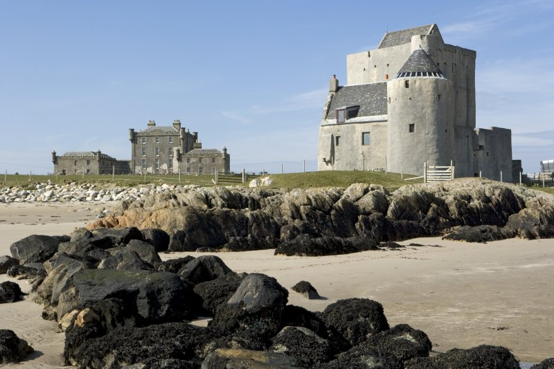 Breachacha House and Castle, view from beach to SSE
