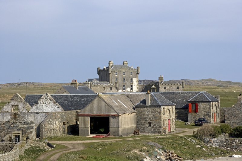 Breachacha Steading and House from south.