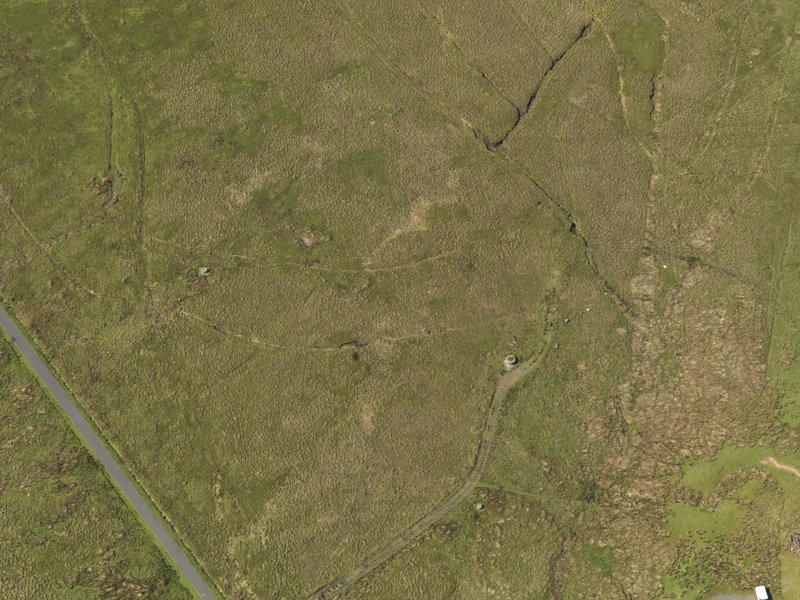 Oblique aerial view centred on spigot mortar mountings, taken from the S.