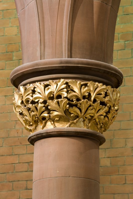 Interior. Ground floor. Central hall. Detail of column capital
