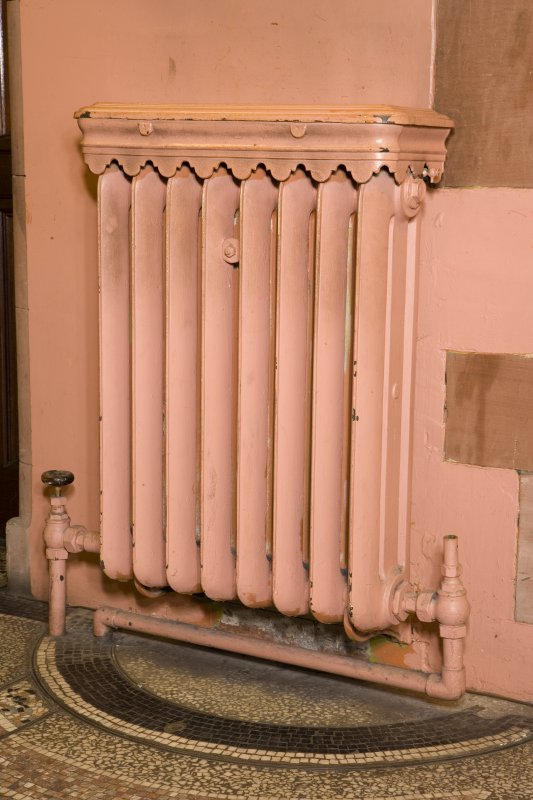 Interior. Ground floor. Detail of radiator