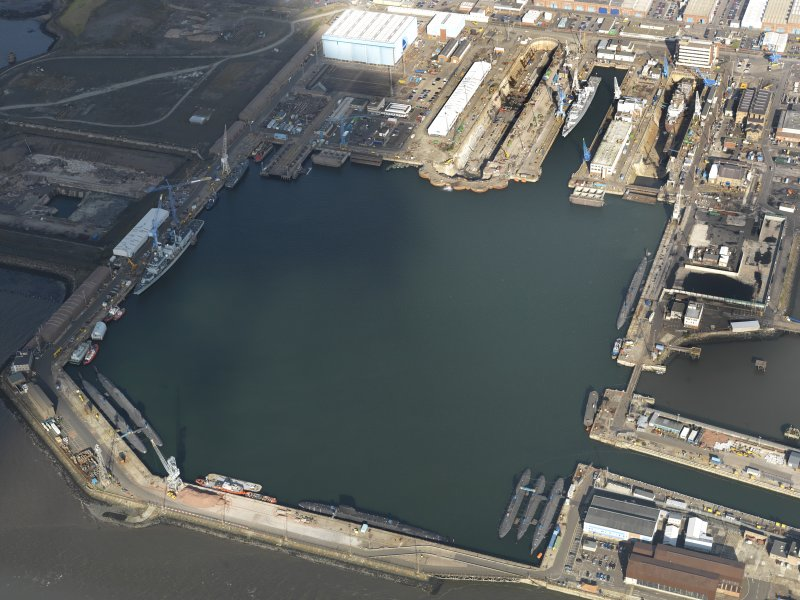 Oblique aerial view centred on the main basin, taken from the SSE.