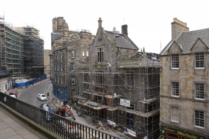 General view of former St John's Church and Victoria Street, looking east from Victoria Terrace