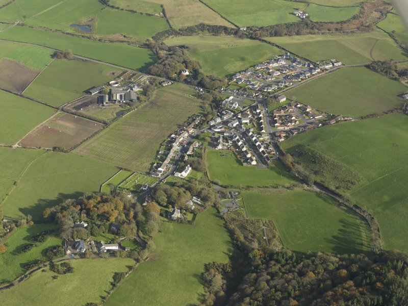 General oblique aerial view centred on the village, taken from the WSW.