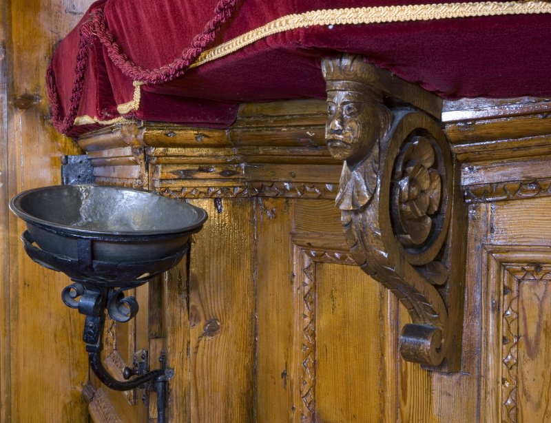 Interior. Detail of pulpit