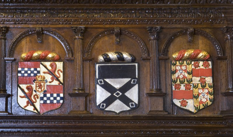 Interior. Crawford gallery, detail of armourial panels