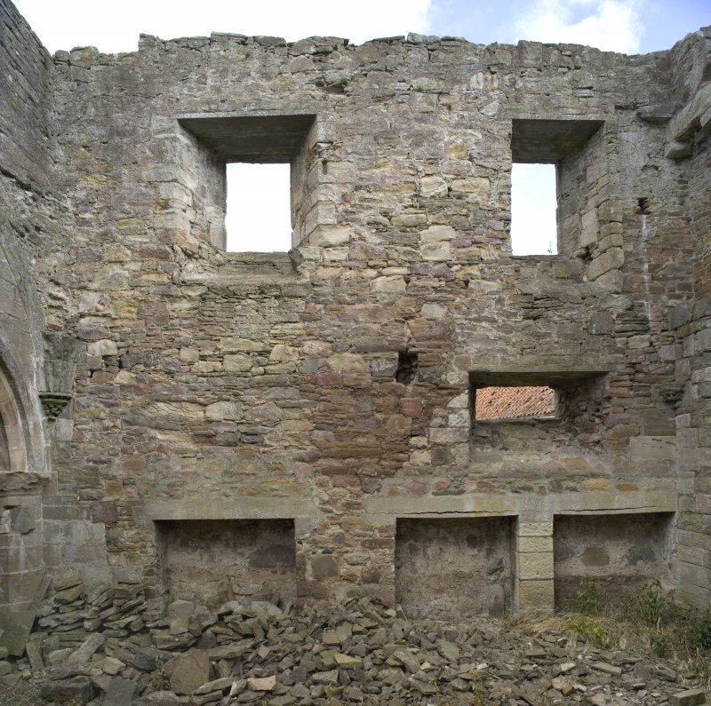 Chapter-house, E end, N wall, view from S (composite of DP52653 & DP52654)