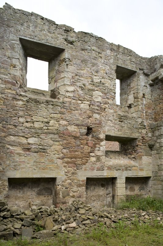 Chapter-house, E end, view of N wall from SW
