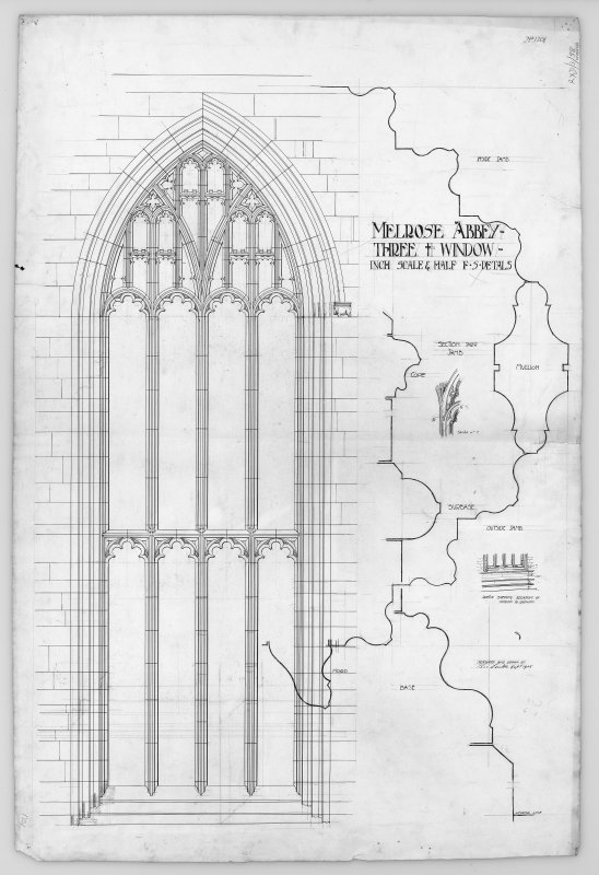 Elevation and details of window.