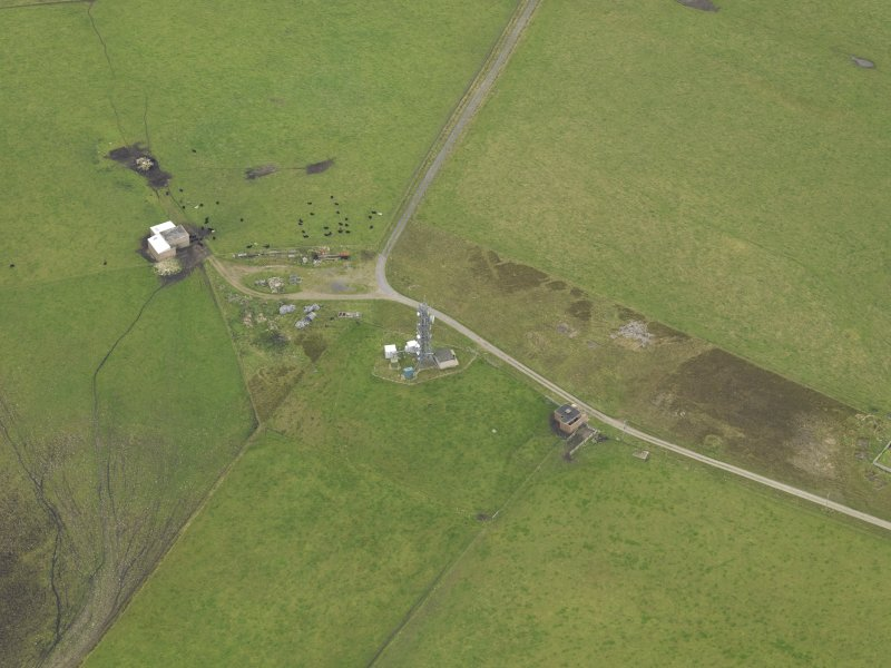 Oblique aerial view centred on the radar station, taken from the W.