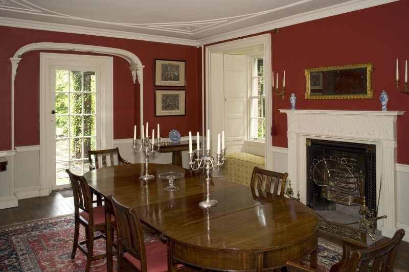 Interior. Ground floor, dining room, view from NW
