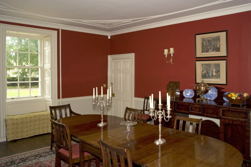 Interior. Ground floor, dining room, view from S